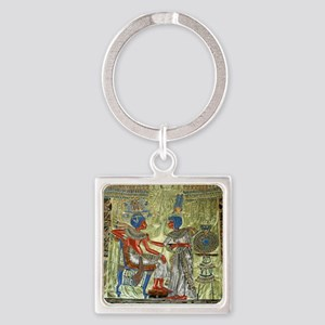 Tutankhamons Throne Square Keychain