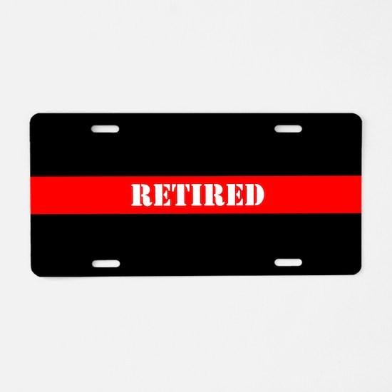 Retired Firefighter Aluminum License Plate