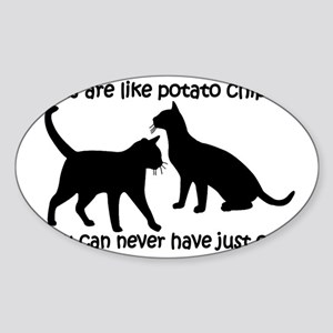 CatsPotatoChips Sticker (Oval)