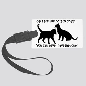 CatsPotatoChips Large Luggage Tag