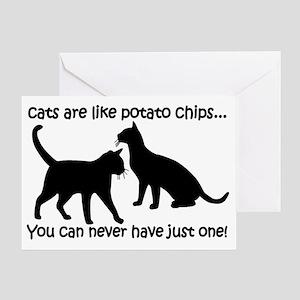 CatsPotatoChips Greeting Card