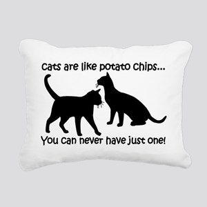 CatsPotatoChips Rectangular Canvas Pillow