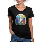 Explosive Mood Women's V-Neck Dark T-Shirt