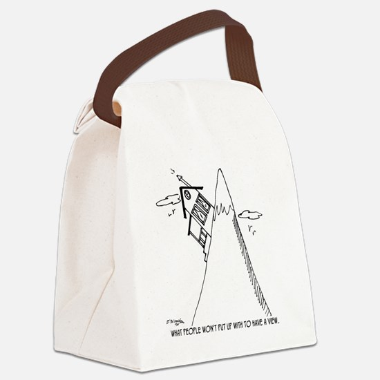 5951_real_estate_cartoon Canvas Lunch Bag