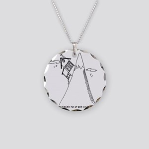 5951_real_estate_cartoon Necklace Circle Charm