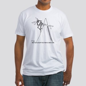 5951_real_estate_cartoon Fitted T-Shirt