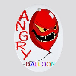 angry ballons red2 copy Oval Ornament