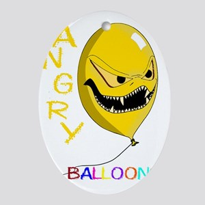 angry ballons yellow2 Oval Ornament