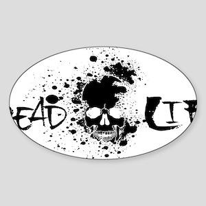 saltlifeDEADLIFEblk Sticker (Oval)