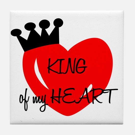 King of my heart Tile Coaster