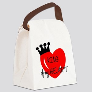 King of my heart Canvas Lunch Bag