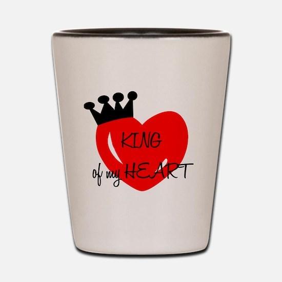 King of my heart Shot Glass
