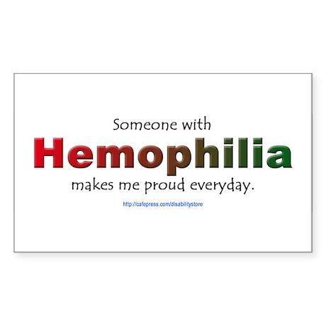 Hemophilia Pride Rectangle Sticker