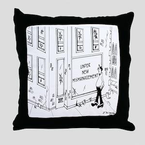 5695_management_cartoon Throw Pillow