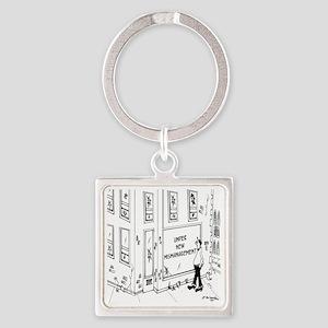 5695_management_cartoon Square Keychain