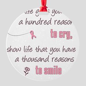 Thousand Reasons to Smile Round Ornament