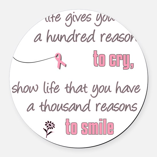 Thousand Reasons to Smile Round Car Magnet