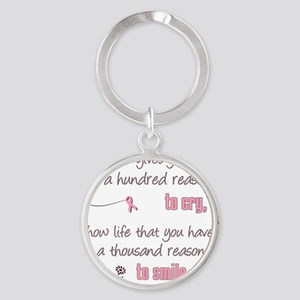Thousand Reasons to Smile Round Keychain