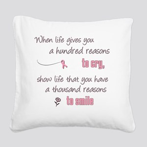 Thousand Reasons to Smile Square Canvas Pillow