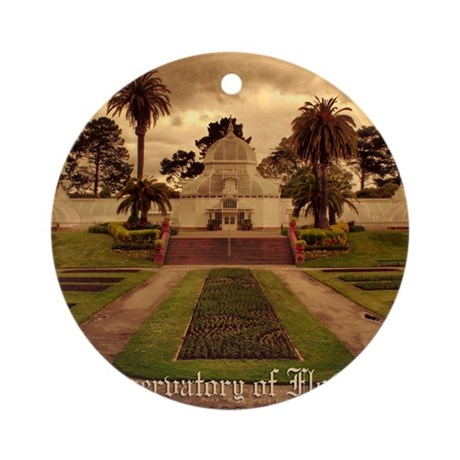 Conservatory Note Cards Round Ornament