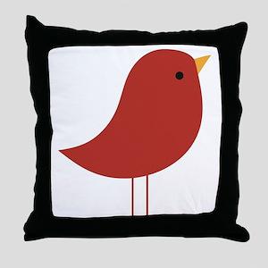 Xmas Cardinal  Throw Pillow