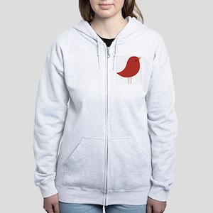 Xmas Cardinal  Women's Zip Hoodie