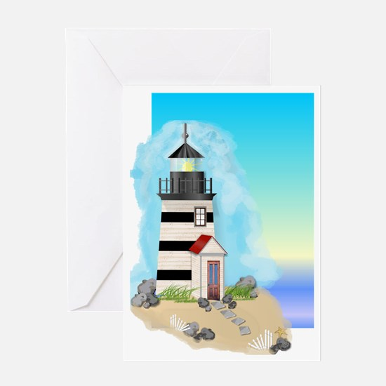 Lighthouse Journal Cover Greeting Card