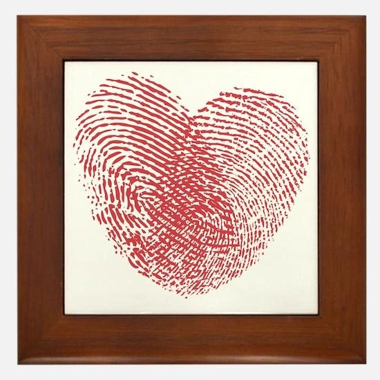 heartfingerprint Framed Tile