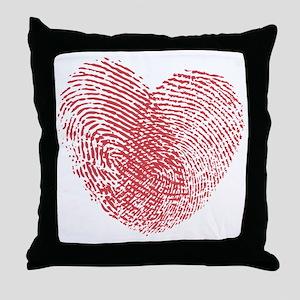 heartfingerprint Throw Pillow