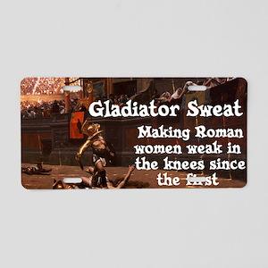 Gladiator Sweat Aluminum License Plate