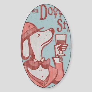 doggy-style-LG Sticker (Oval)