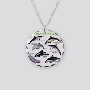 Dolphins of the World Necklace Circle Charm