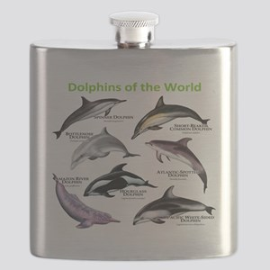 Dolphins of the World Flask