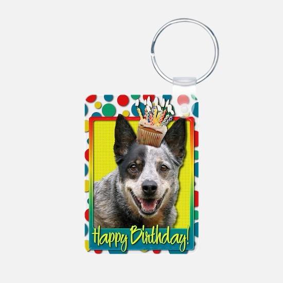 BirthdayCupcakeAustralianC Keychains