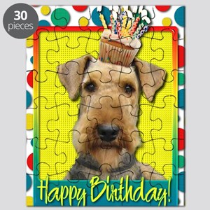 BirthdayCupcakeAiredale Puzzle