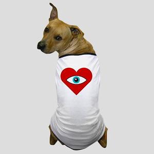 eye_heart_U_white Dog T-Shirt