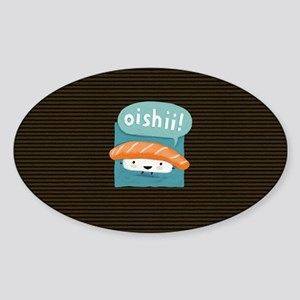 oishiilaptopskin Sticker (Oval)