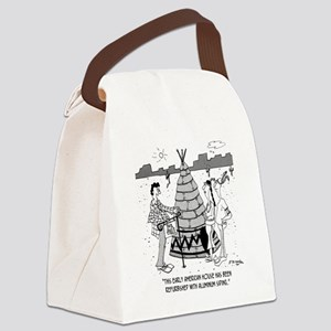 4929_real_estate_cartoon Canvas Lunch Bag