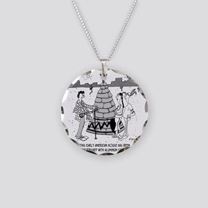 4929_real_estate_cartoon Necklace Circle Charm