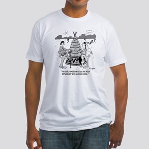 4929_real_estate_cartoon Fitted T-Shirt