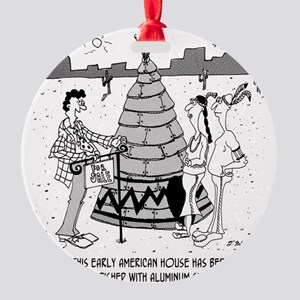 4929_real_estate_cartoon Round Ornament