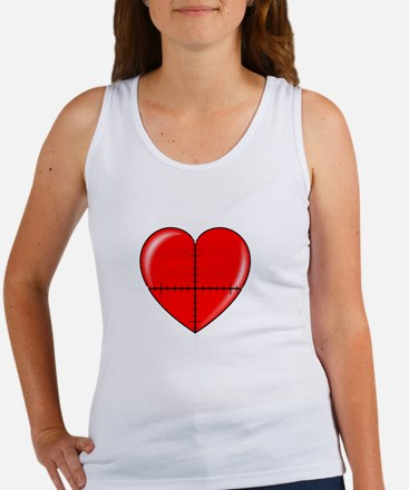 heart-curve-2-whiteLetters copy Women's Tank Top