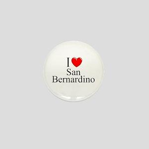 """""""I Love San Bernardino"""" Mini Button"""