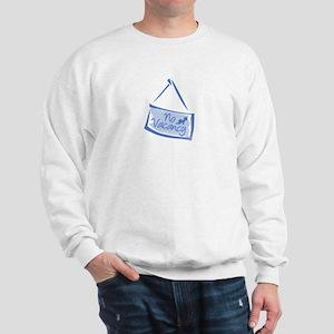 No Vacancy Blue Sweatshirt