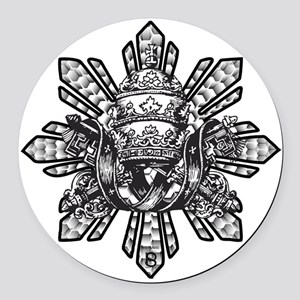 Filipino Sun With Crown Round Car Magnet