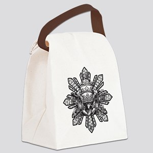 Filipino Sun With Crown Canvas Lunch Bag