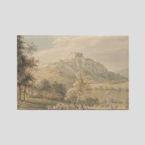Carreg Cennan Castle - Paul Sandby - c1800 Magnets