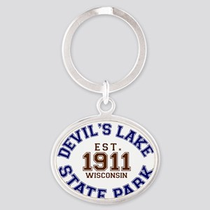 Devils Lake State Park Wisconsin Oval Keychain