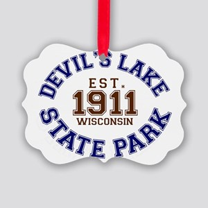 Devils Lake State Park Wisconsin Picture Ornament