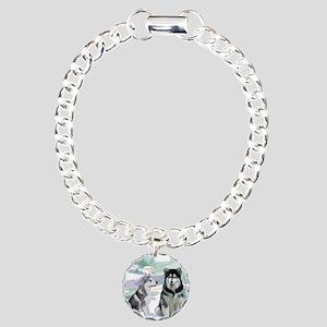 alaskan_malamute_fat qua Charm Bracelet, One Charm